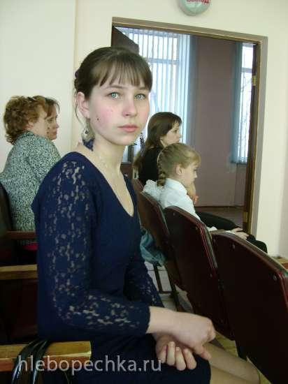 Катя сдала выпускной экзамен в музыкальной школе