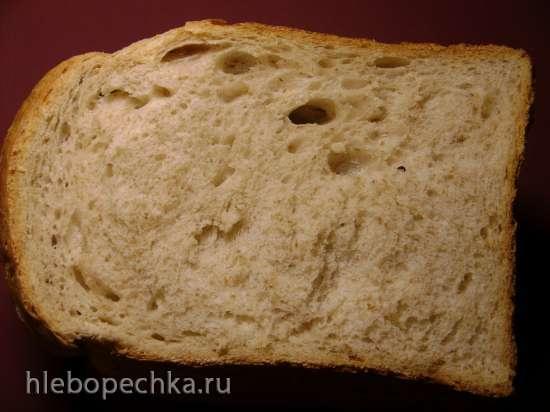 Пшеничный хлеб на сыворотке с отрубями