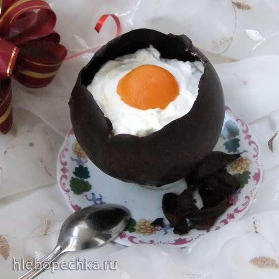 Мороженое «Глазунья в шоколаде»