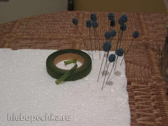 Ежевика и малина из мастики и айсинга