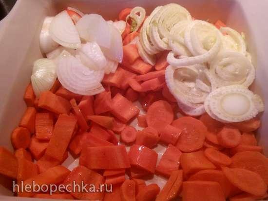 Суп-пюре из печеной моркови и фенхеля с лепешками по рецепту Джейми Оливера