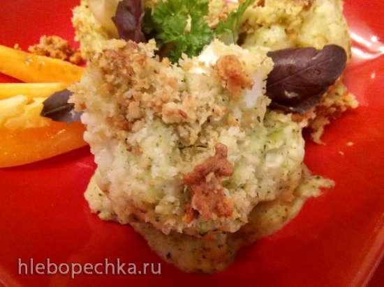Запеканка из цветной капусты под соусом бешамель с брокколи от Джейми Оливера