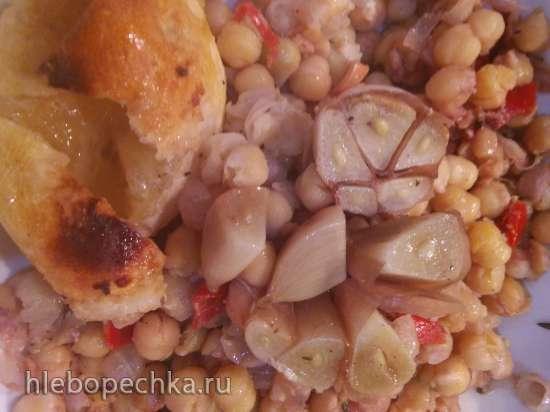 Курица с нутом из духовки по рецепту Гордона Рамзи