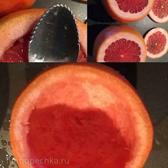 Грейпфрутовый мини-торт с клубникой