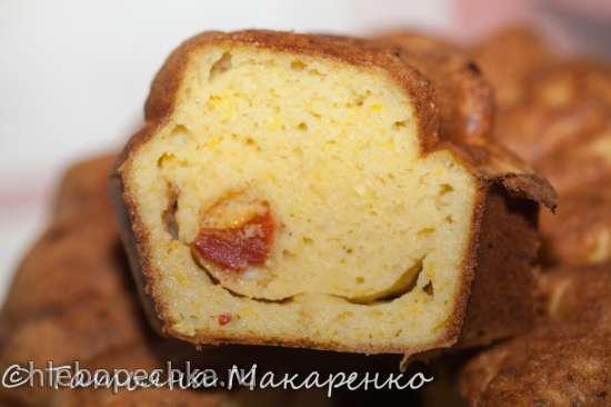 Кабачковый кекс с кукурузной мукой и вялеными помидорами (кексница GFW-025 Keks Express)