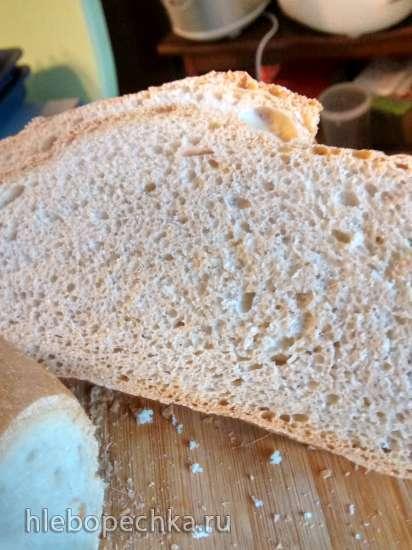 Белый столовый хлеб на долгой опаре (духовка)