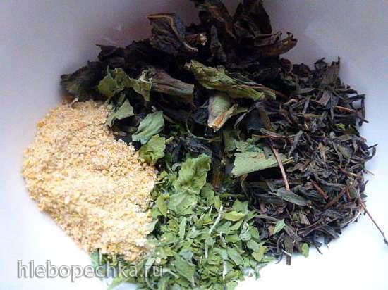 Куриные шашлычки в маринаде из чайного гриба с различными травами