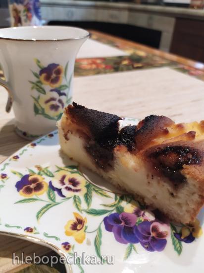 Пирог с рикоттой и джемом