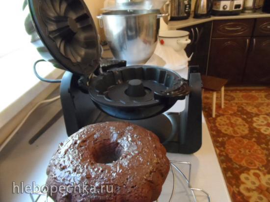 Шоколадный постный кекс на соке