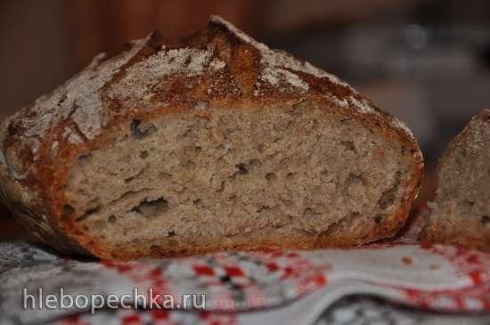 Рецепт пшенично-ржаного хлеба на сыворотке для хлебопечки.