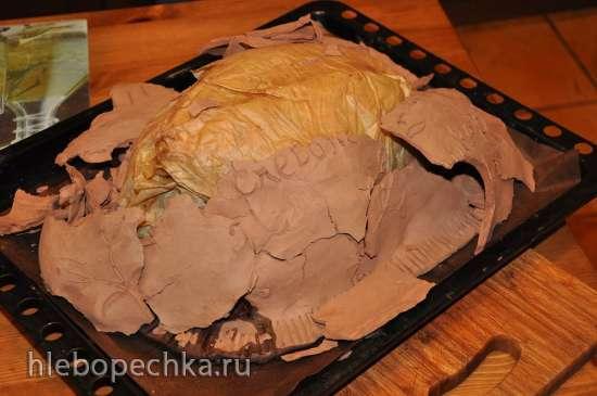 Курица в глине (Faraona alla creta)