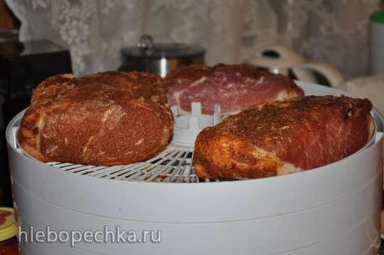 Филе свиное вяленое в электросушилке