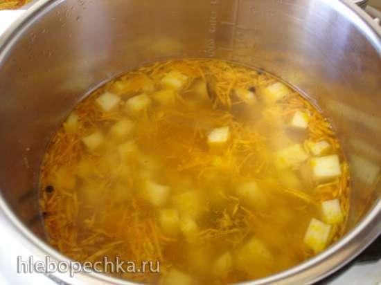 Вегетарианский суп из нута, картофеля и моркови (Polaris 0305)
