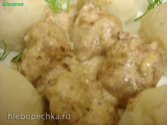 Куриная печень в сметанном соусе (скороварка Polaris 0305)