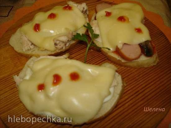 Горячие бутерброды в скороварке (Polaris 0305)