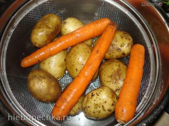 Овощи для зимних салатов, сваренные на пару (скороварка Polaris 0305)