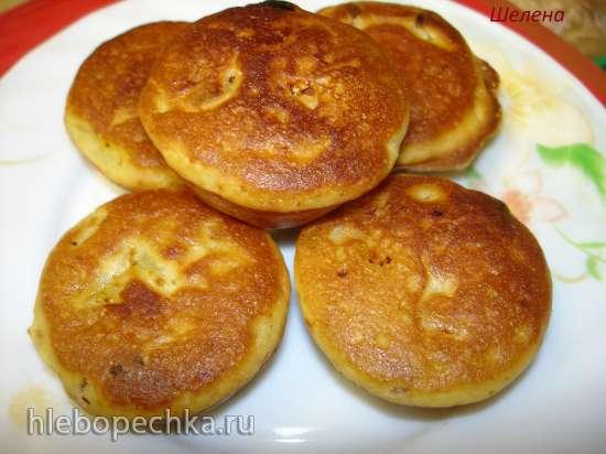 Кекс или мини-кексы из постного теста с яблоком и сухофруктами  (мультиварка Brand 502 или кексница VES V-TO-4)