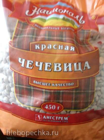 Вегетарианский суп из чечевицы с картофелем, шампиньонами, сельдереем и морковью (Polaris 0305)