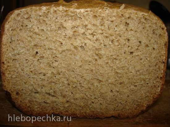"""Ржано-пшеничный дрожжевой хлеб по мотивам """"Российского"""" (хлебопечка Polaris PBM 1501D)"""