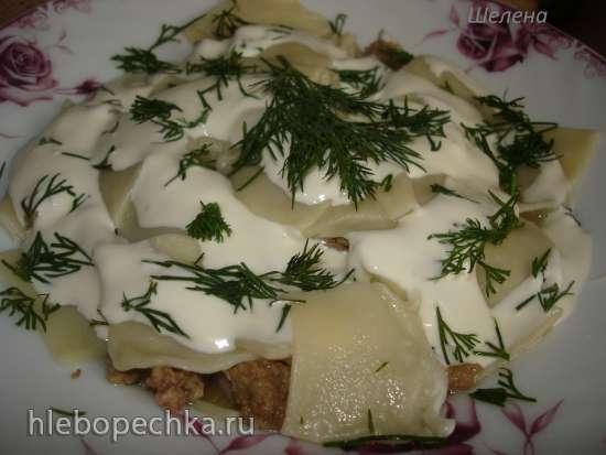 Пельменный салат (пельмени без лепки)