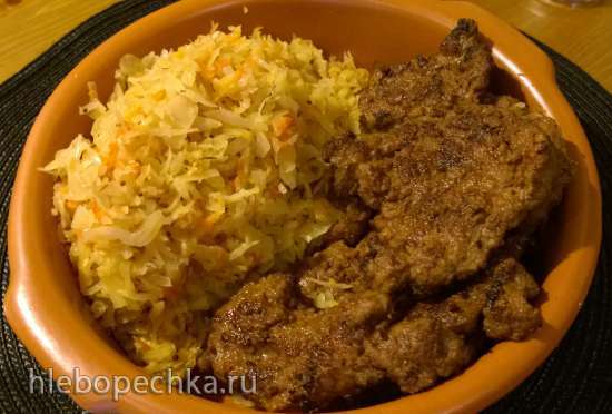Баварская кисло-сладкая тушеная капуста (вариант приготовления из свежей капусты)