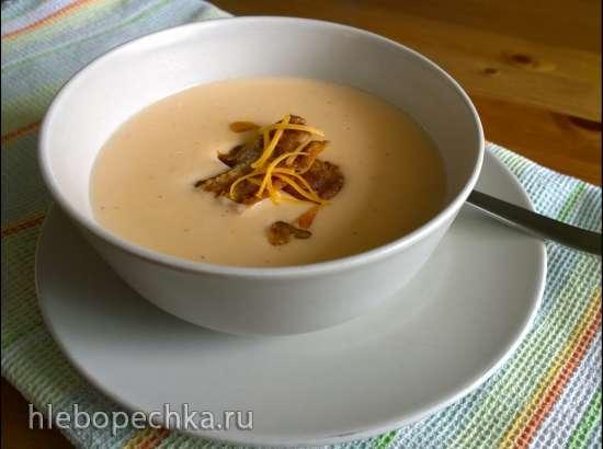 Яблочно-сырный суп