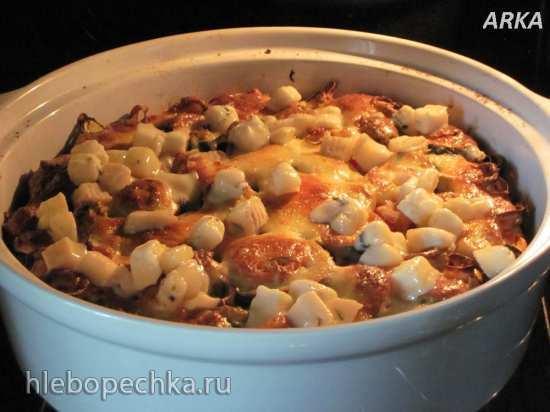 Флоньярд с овощами (заливной пирог)