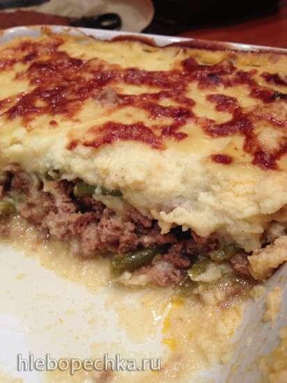 Шефирдский пирог с мясом и цветной капустой