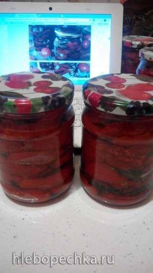 Вяленые помидоры в духовке, в ароматном масле (приготовление и консервирование)
