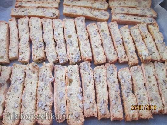 Бискотти белковое с орехами