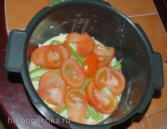Омлет с овощами в мультиварке Cuckoo 1054