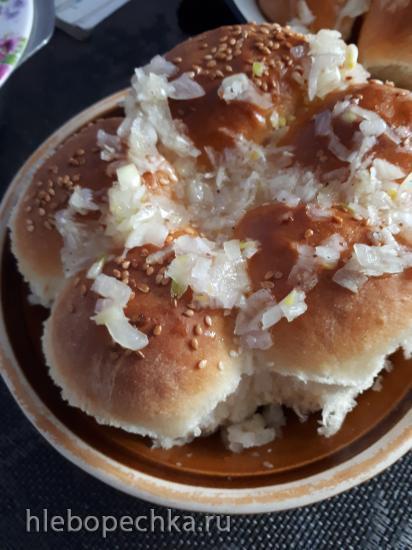 Пампушки с чесноком к борщу по-украински