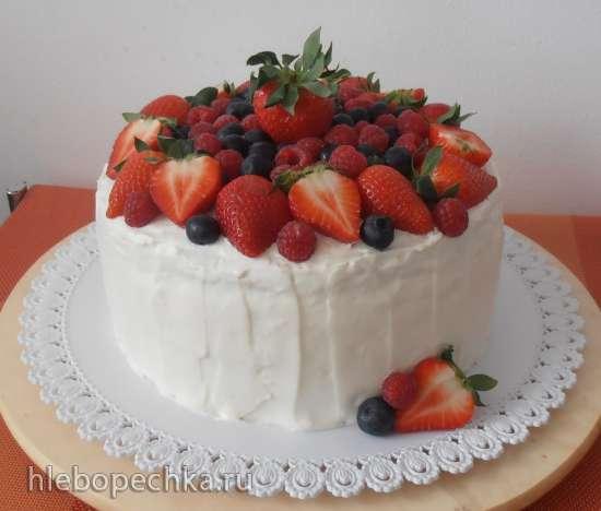 Украшение тортов фруктами