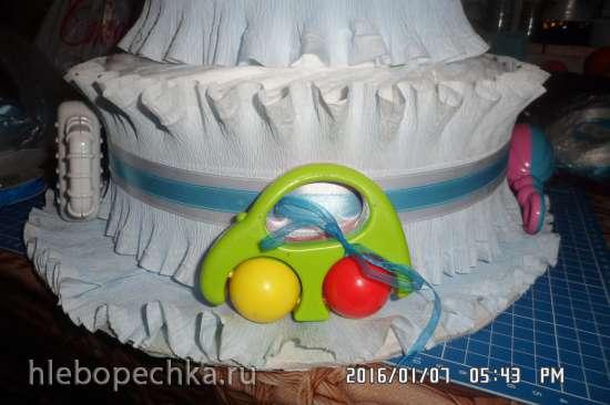 Памперсный торт (мастер-класс)
