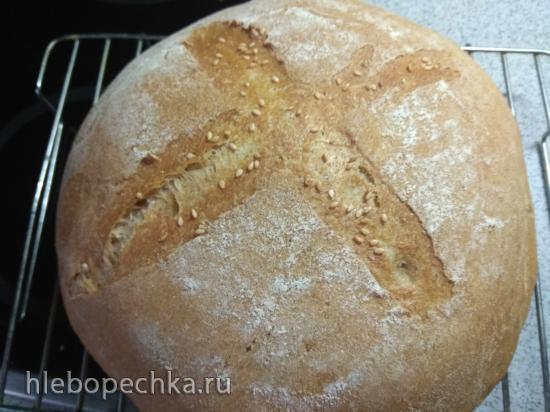 Опарный хлеб в казане