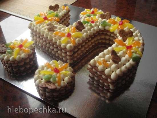 "Торт-цифра ""23 февраля"""