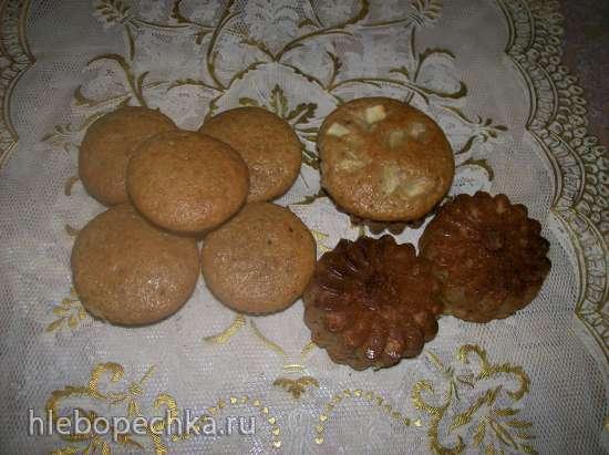 Кексы арахисово-ржаные