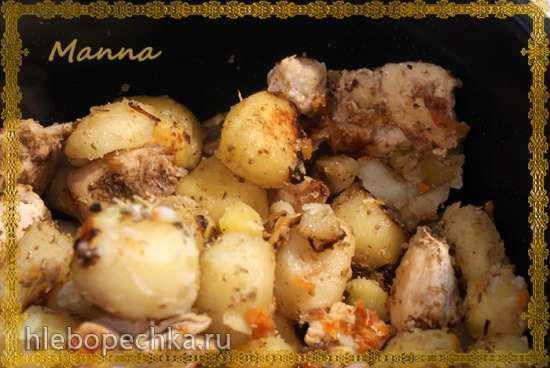 Картофель с мясом на Экспрессе (мультиварка Brand 701)