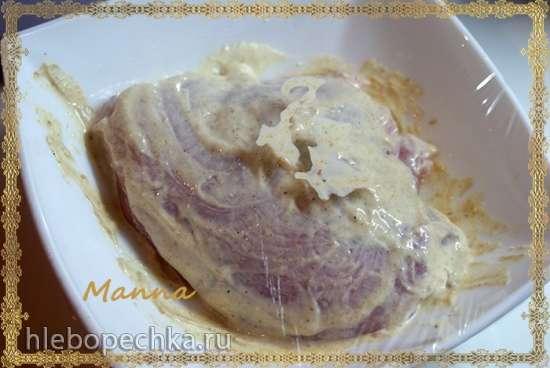 Куриная грудка в сливочно-чесночном соусе (мультиварка Brand 701)