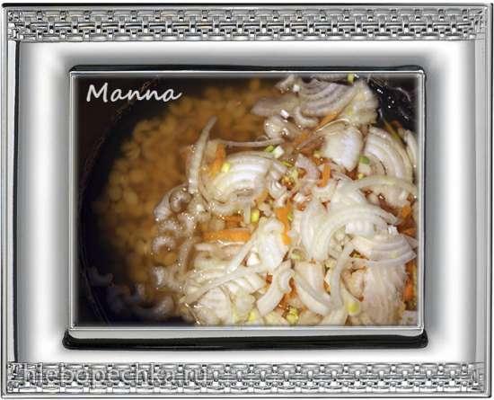 Овощной гороховый суп с пророщенной чечевицей (мультиварка Philips HD3197)