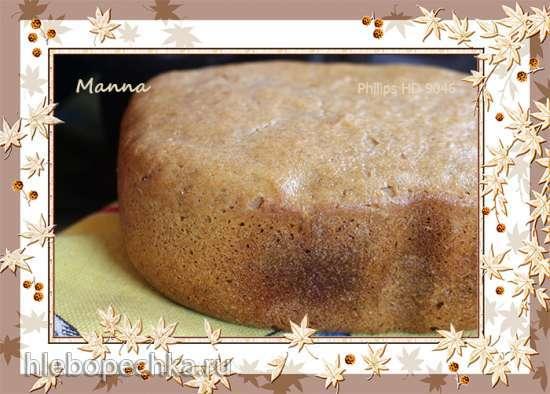 Пшенично-ржаной хлеб на закваске в хлебопечке Philips HD 9046