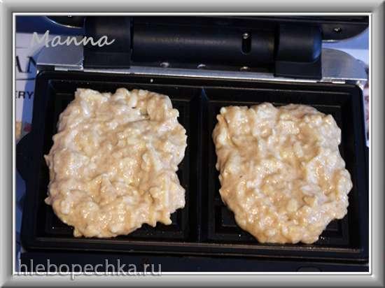 Вафли без яиц с яблоком (обзор мультипекарни Brand 321)