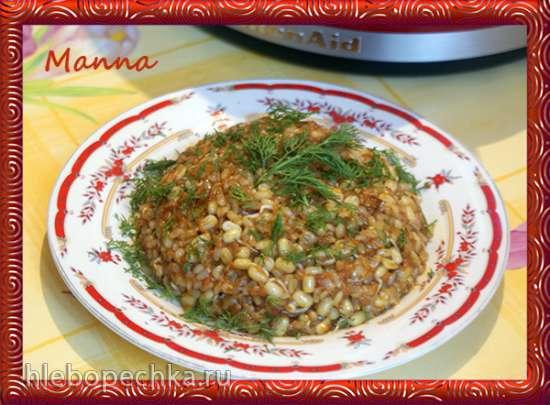 Кичри из живого риса с пророщенным машем (мультиварка KitchenAid)