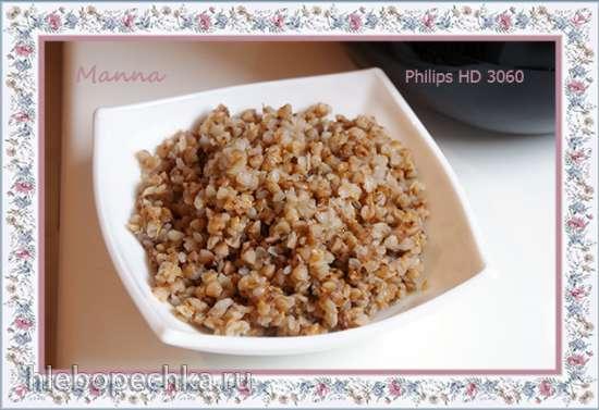 Крупы на гарнир в мультиварке Philips HD3060