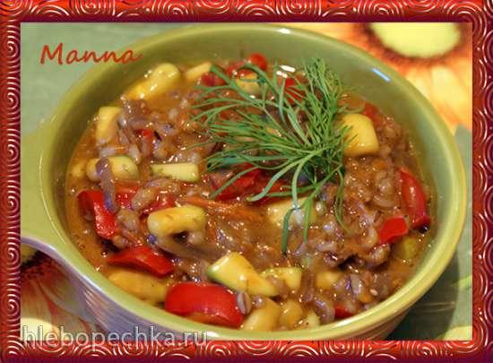 Перлотто на грибном бульоне с овощами (мультиварка KitchenAid)