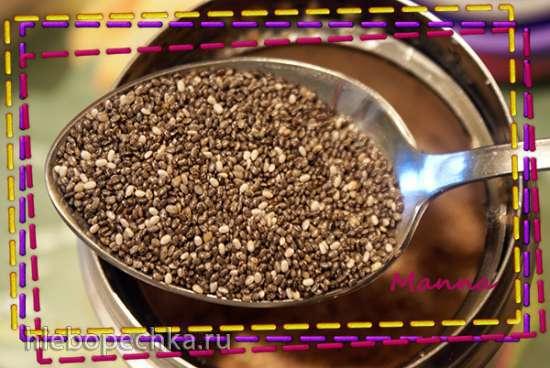 Каша манная цельнозерновая с семенами чиа и кокосовым молоком в термосе