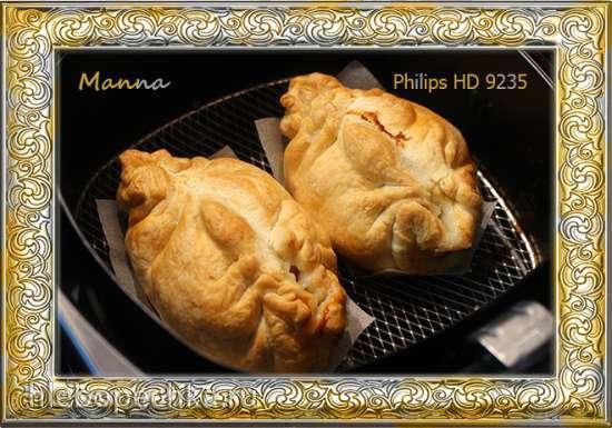 Слоеные мясные пирожки в мультипечи Philips HD9235