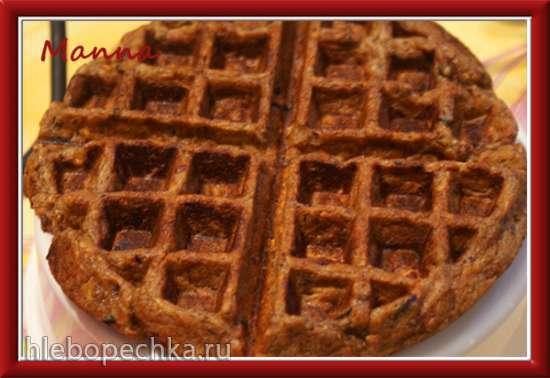 Морковные пряные вафли (вафельница KitchenAid Artisan)