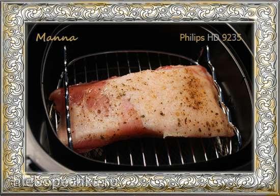 Свиная грудинка, запеченная в мультипечи Philips HD9235