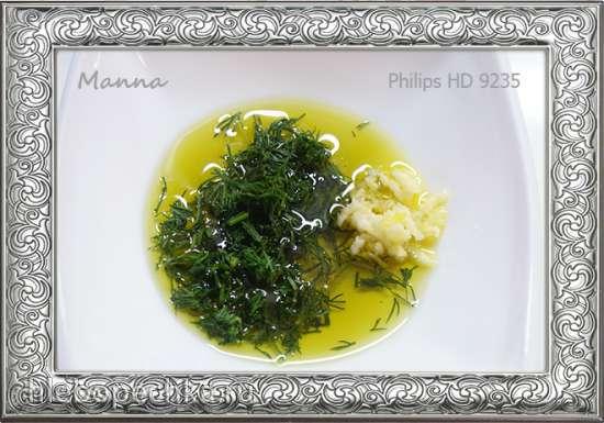 Королевские креветки в чесночном соусе в мультипечи Philips HD9235
